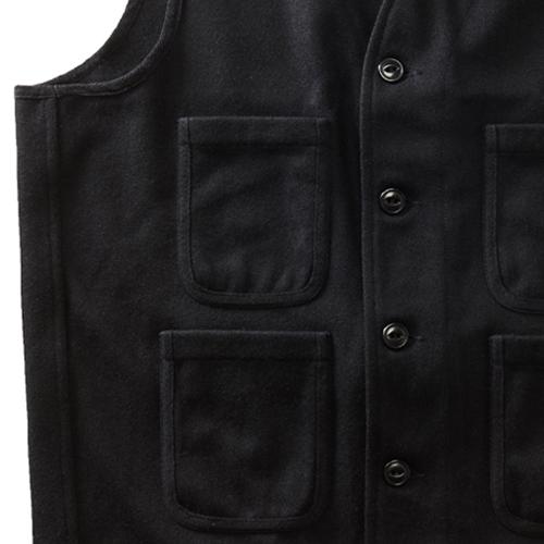 Wool Blend Vest - Black