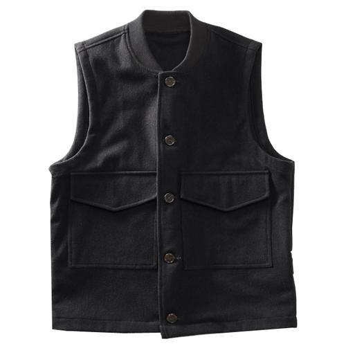 Wool Flight Vest - Black