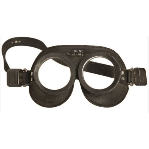 Tactical German Black Rubber Goggles Like New