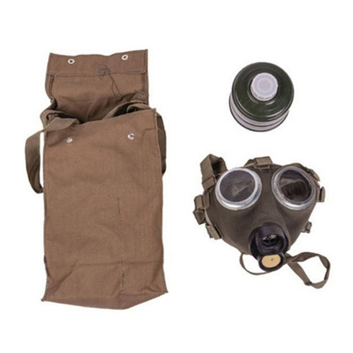 Tactical Hungarian Gas Mask W/Filter & Bag Used