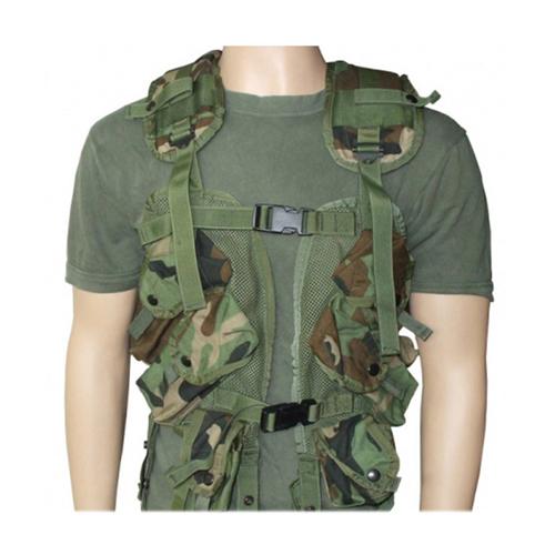 Used US GI Issue Tactical Load Bearing Vest-Woodland