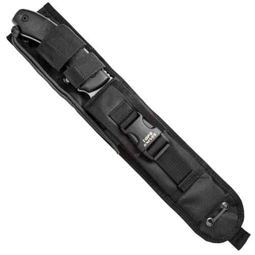 Longhorn Black Linen Micarta Handle Bowie Knife