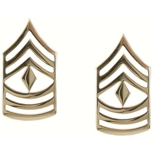 First Sergeant Polished Insignia