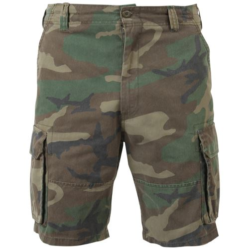 Vintage Camo Paratrooper Cargo Shorts