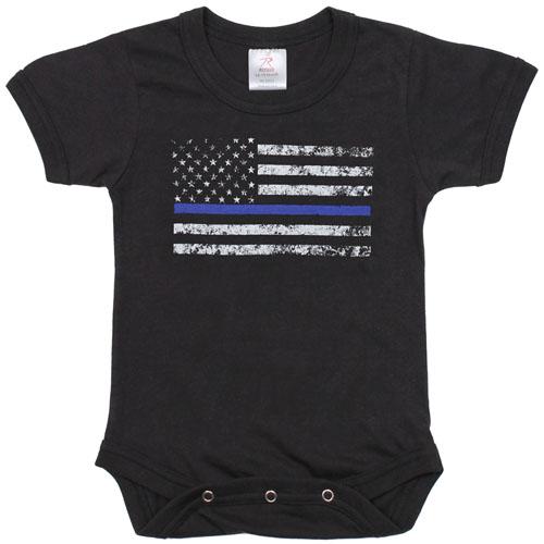 Infant Thin Blue Line One-Piece Bodysuit