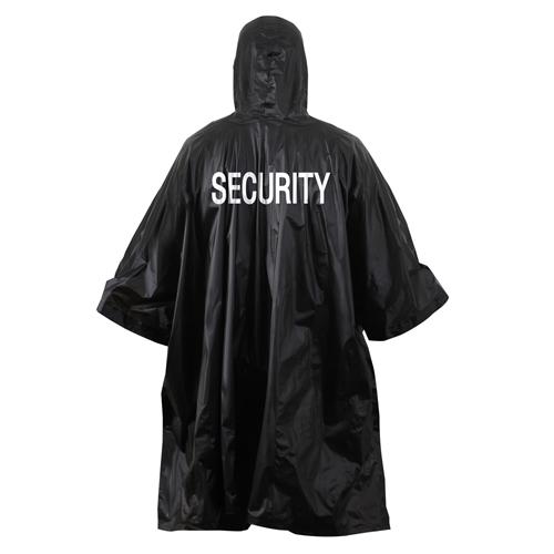 Security Black Vinyl Poncho