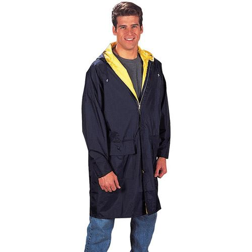 Mens PVC Inner Attached Hood with Under Arm Vent