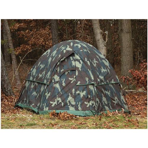 Camo 3-Man Hexagon Dome Tent