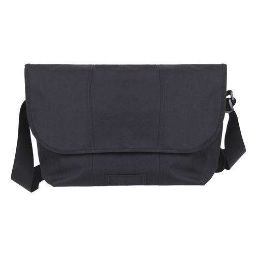 Polyester Elusion Messenger Black Bag