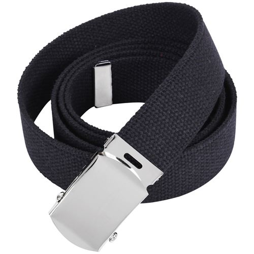 54 Inch Military Chrome Buckle Web Belts