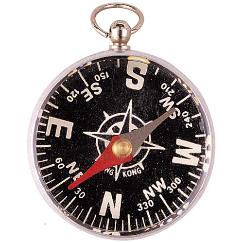 Unlidded Pocket Compass