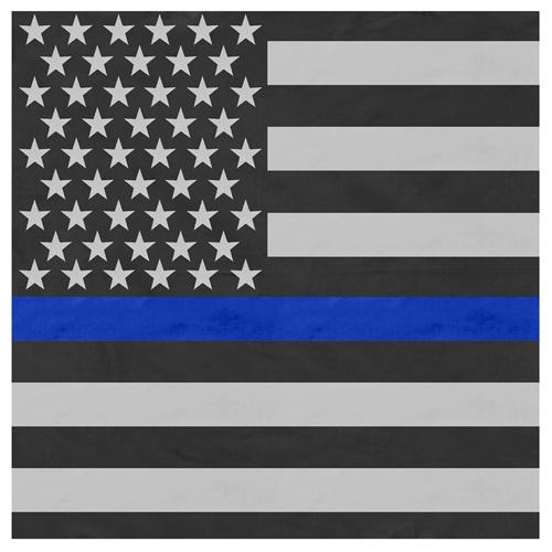 Thin Flag Bandana Blue Line