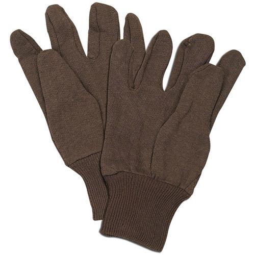 Brown Cotton Jersey Work Gloves