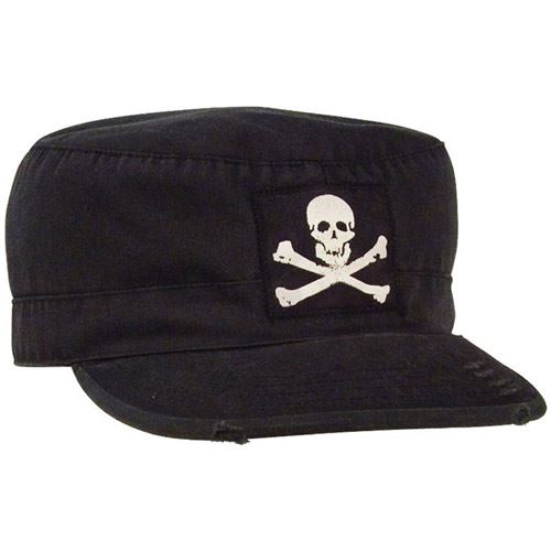 Vintage Military Jolly Roger Fatigue Cap