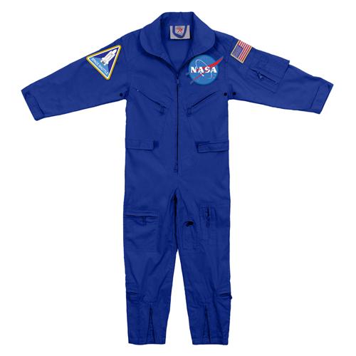 Kids NASA Flight Coveralls with NASA Patch