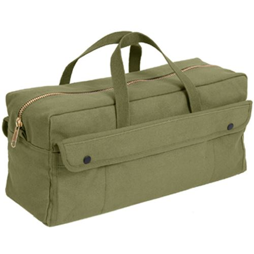 Ultra Force Olive Drab Canvas Jumbo Tool Bag With Brass Zipper