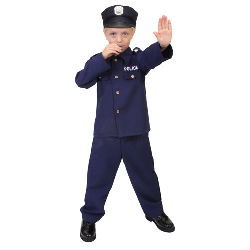 Ultra Force Kid's Police Costume