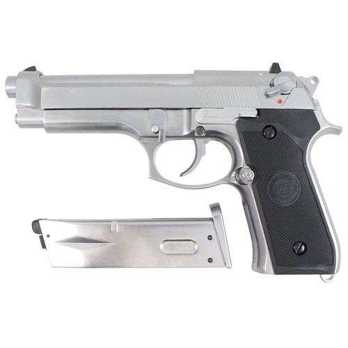 M92 Full Auto GBB Chrome Airsoft gun