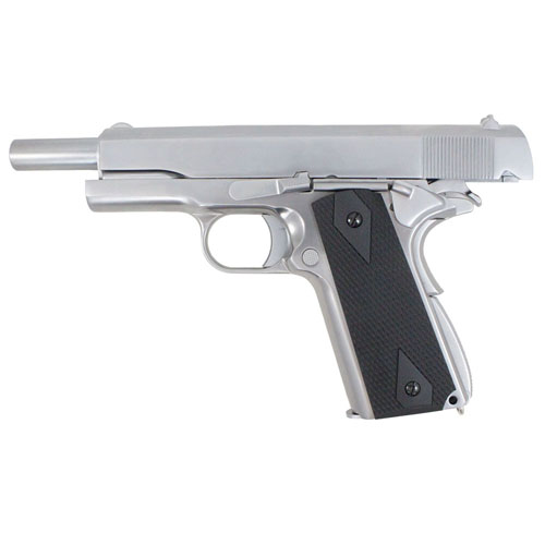 1911 Full Metal GBB Chrome Airsoft Pistol