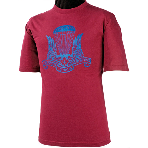 Army Airborne T-Shirt Burgundy