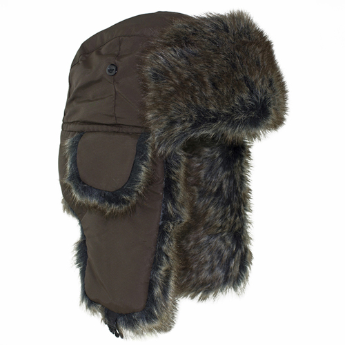 Zan Headgear Brown Fur Trooper Hat